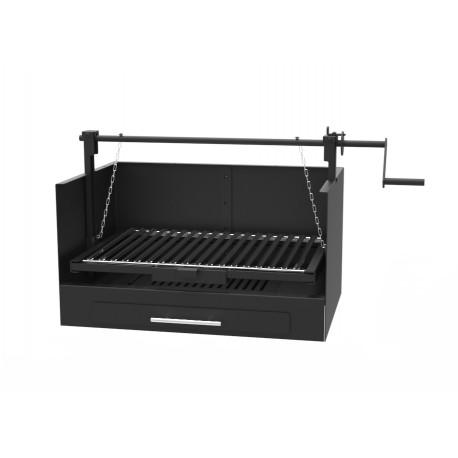 Barbacoa de Carbón y Leña de sobremesa y encastrable 60 x 40 cm, regulable a 3 alturas