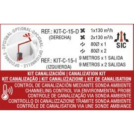 KIT canalización izdo para modelo CORAL y EVA